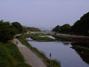 上賀茂橋から北山橋を望む